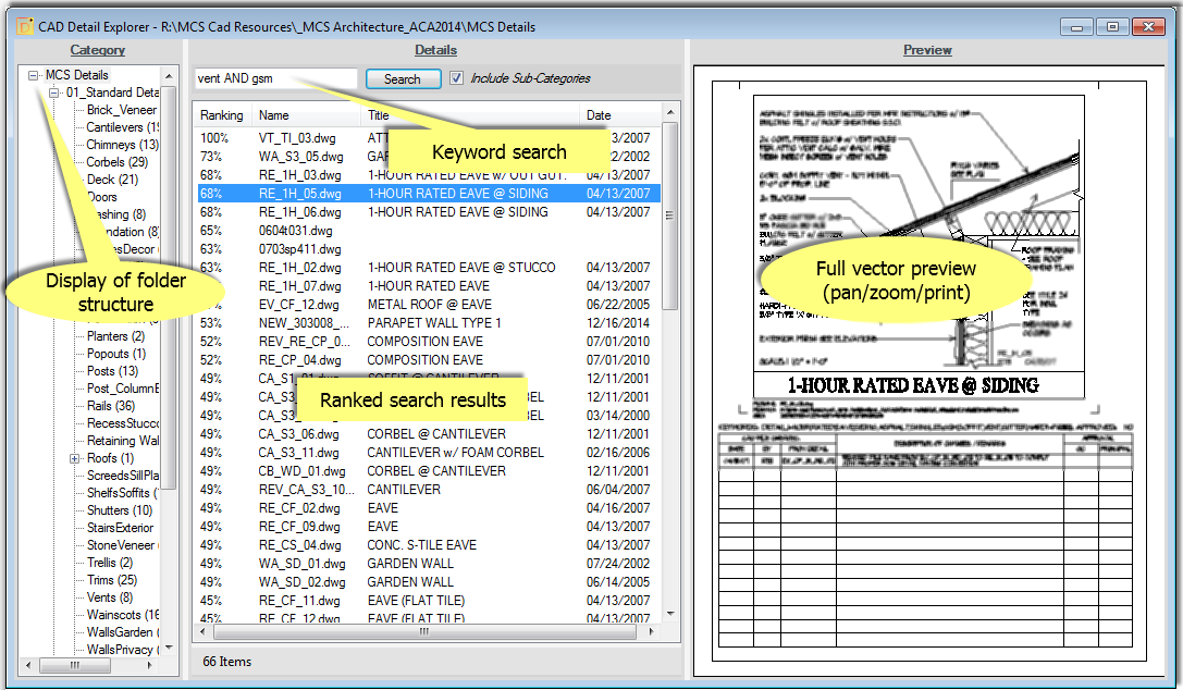 CAD Detail Explorer - CAD Detail Management Software