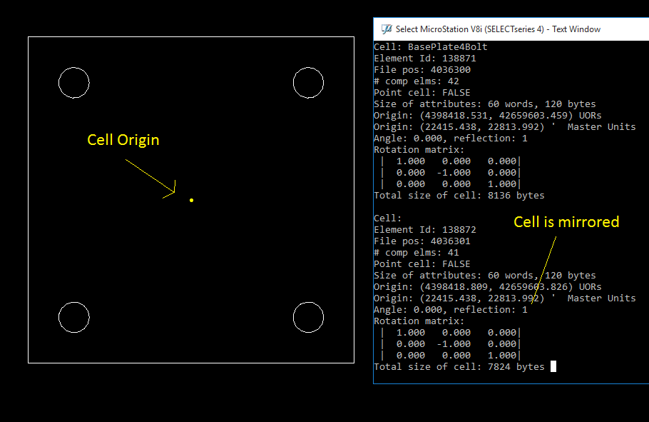 CellInfo - MicroStation Utility to Display Cell Rotation (and other